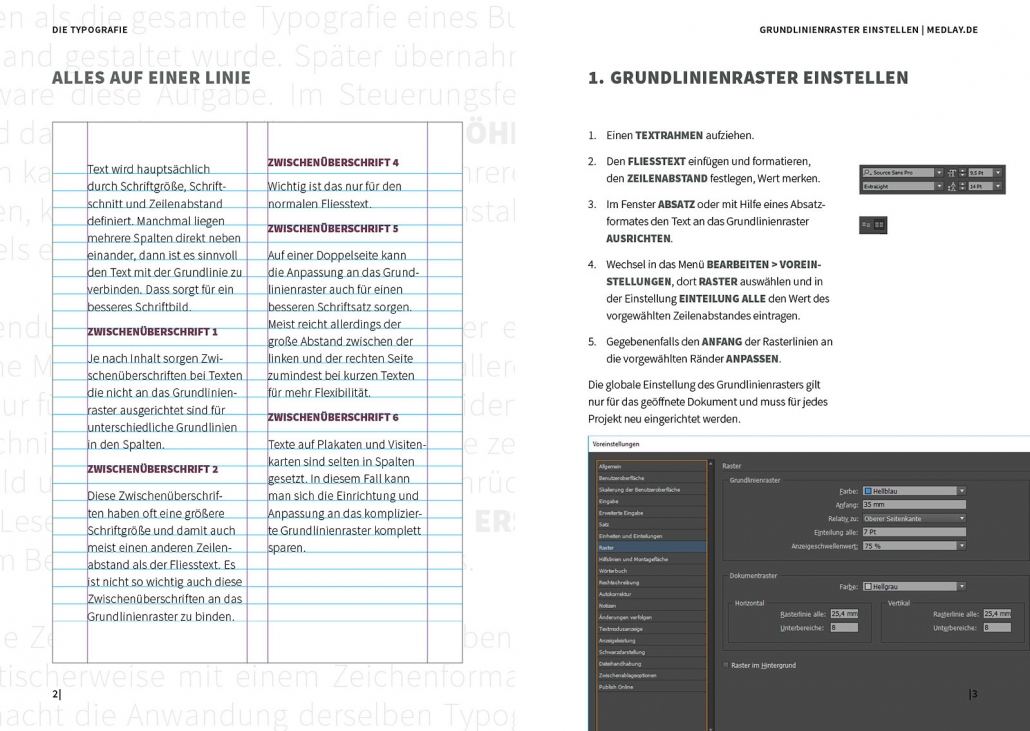 Indesign Grundlinienraster einstellen
