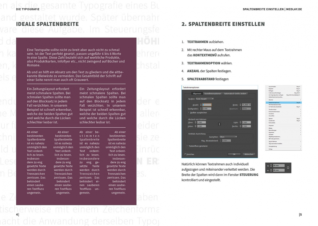 Indesign Spaltenbreite einstellen