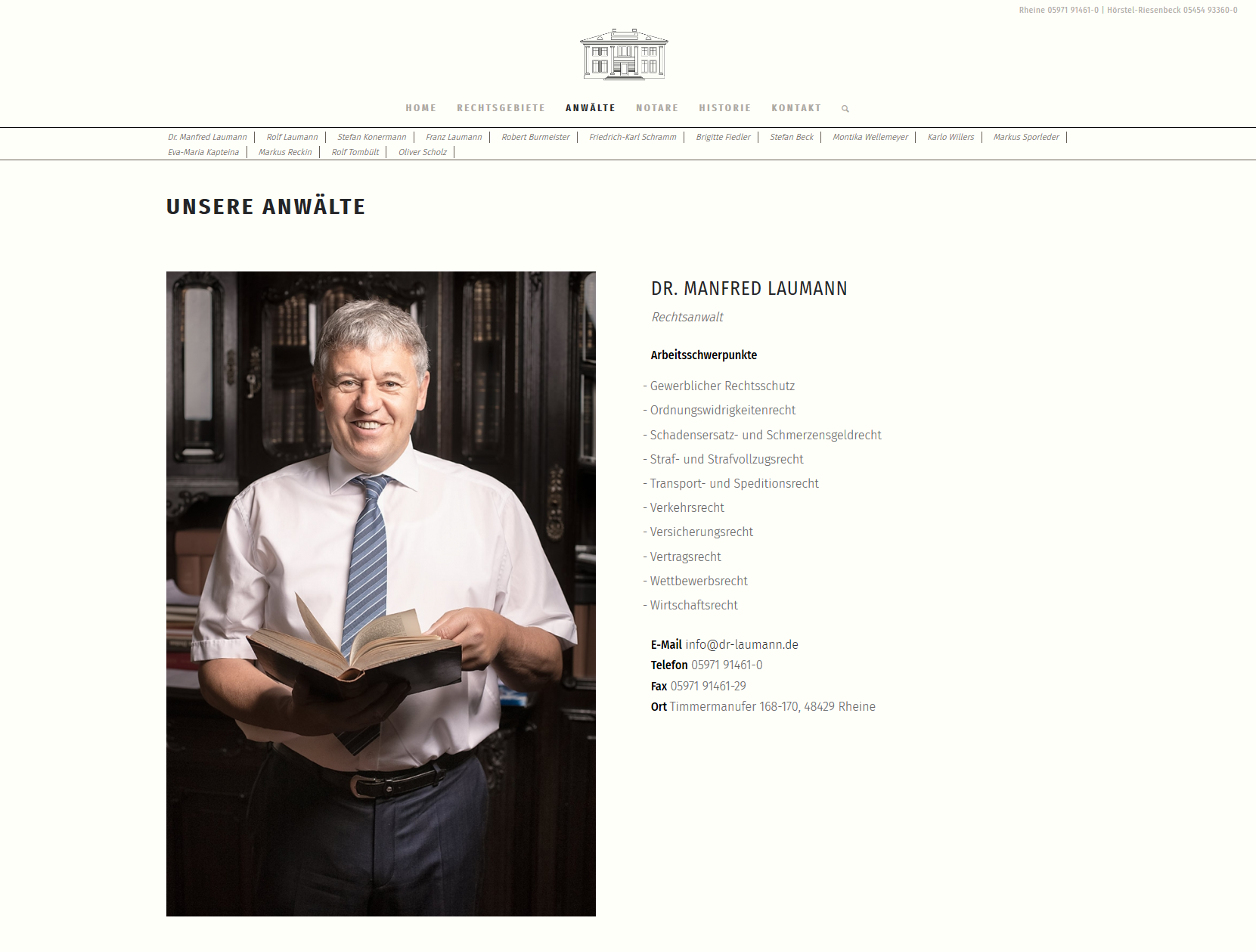 Dr. Laumann, Konermann & Kollegen Website Portrait
