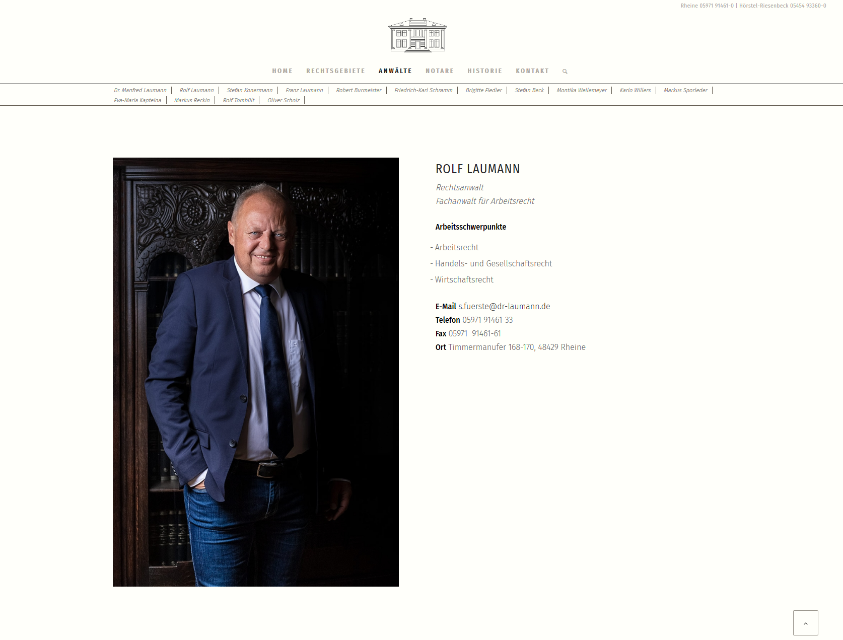 Dr. Laumann, Konermann & Kollegen Website Portrait2